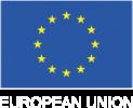 european flag-white text